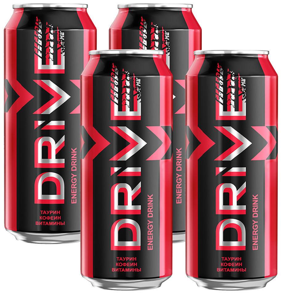 Напиток Drive Me энергетический Ягоды 449мл (упаковка 4 шт.)