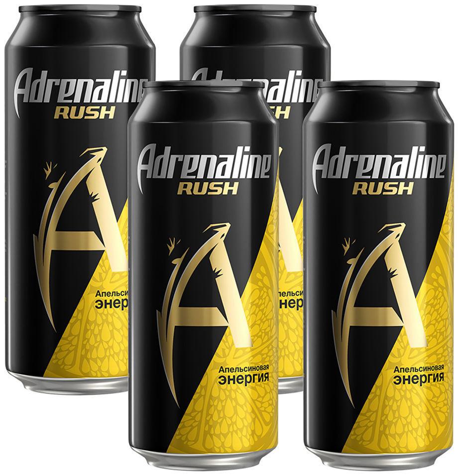 Напиток Adrenaline Rush энергетический Апельсиновая энергия 449мл (упаковка 4 шт.)