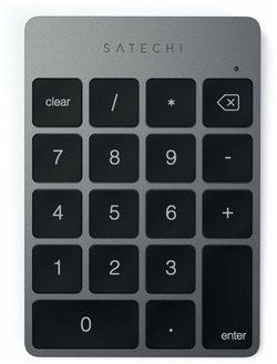 Клавиатура Satechi Aluminum Slim Rechargeable Keypad Space Gray Bluetooth