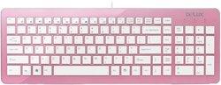 Клавиатура Delux K1500 Pink USB