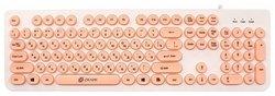 Клавиатура OKLICK 400MR White-Pink USB