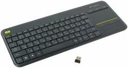 Клавиатура Logitech Wireless Touch Keyboard K400 Plus Black USB