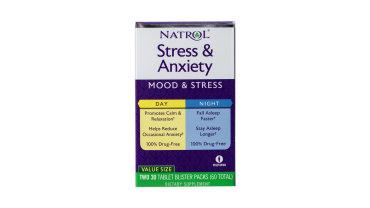 Stress&Anxiety Day&Night Natrol, 30+30 капсул