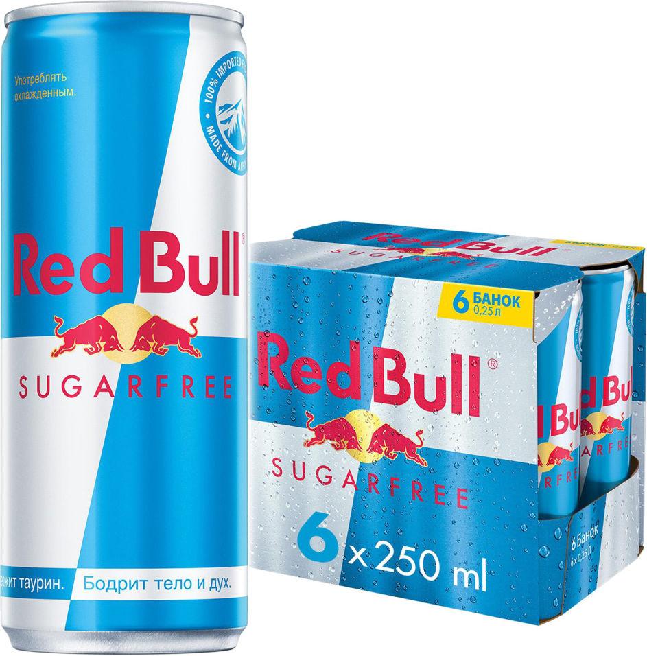 Напиток Red Bull энергетический без сахара 6шт*250мл