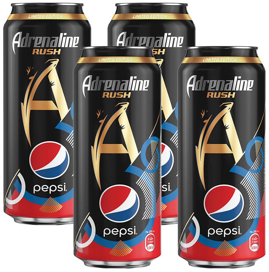 Напиток Adrenaline Rush Pepsi энергетический 449мл (упаковка 4 шт.)