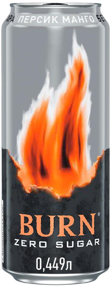 Напиток Burn энергетический Burn Peach Zero 449мл