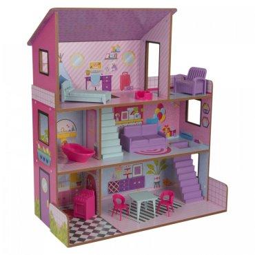 KidKraft Кукольный домик Лолли с мебелью (10 предметов)