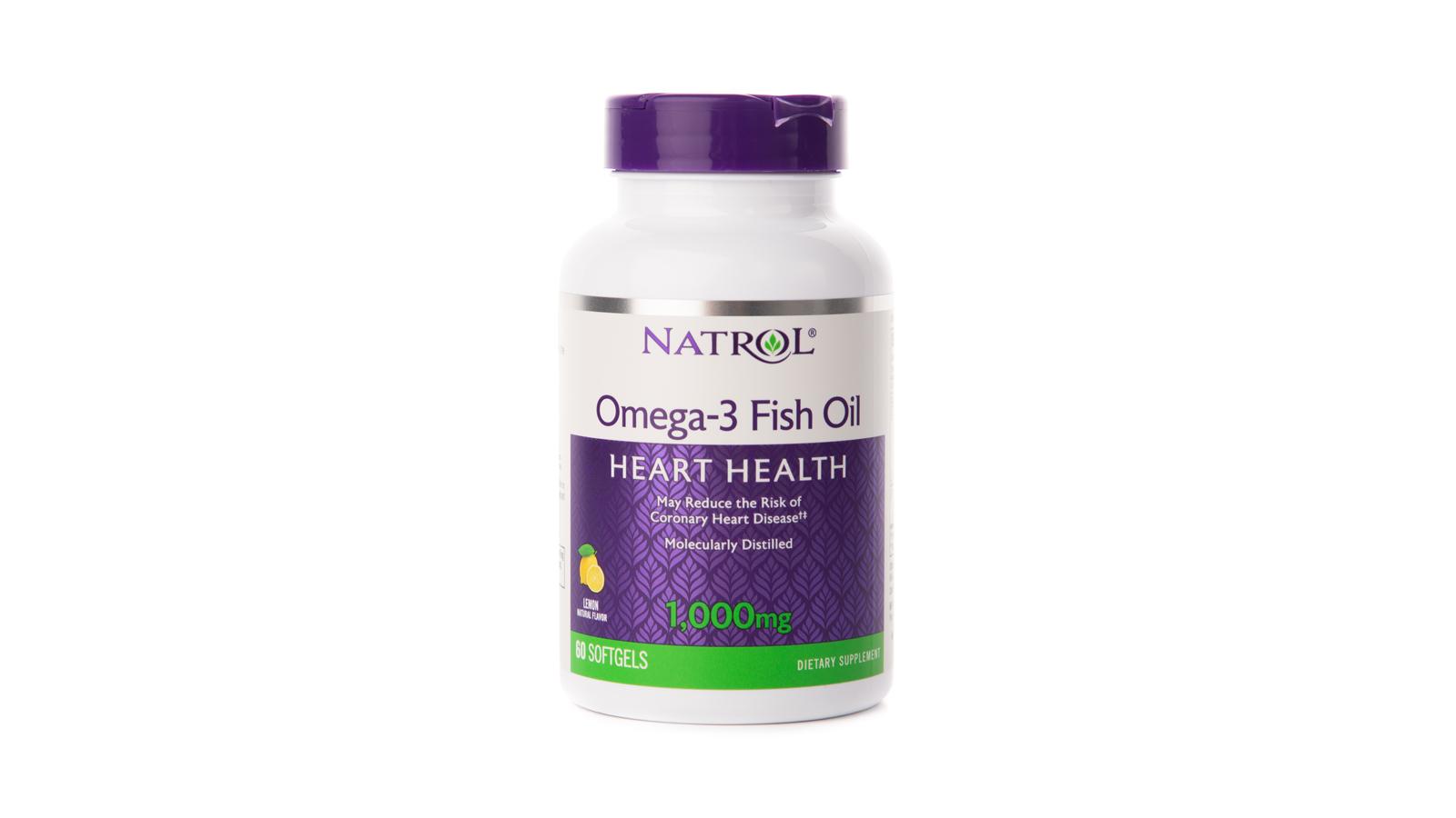 Омега-3 Natrol 1000 мг, 60 капсул