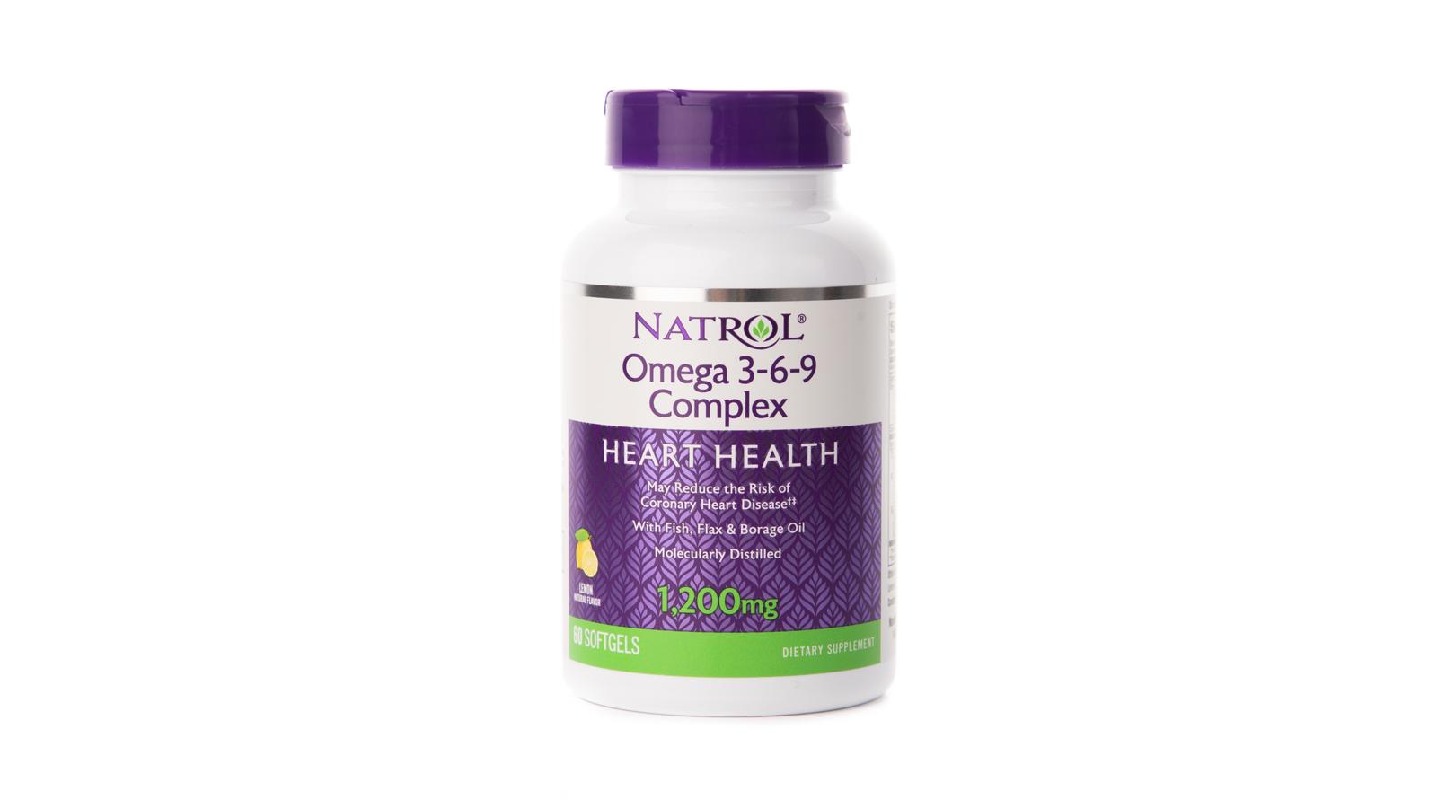 Омега 3-6-9 Natrol 1200 мг, 60 капсул