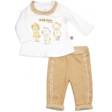 Mini World Комплект для девочки (лонгслив, брюки) MW15436