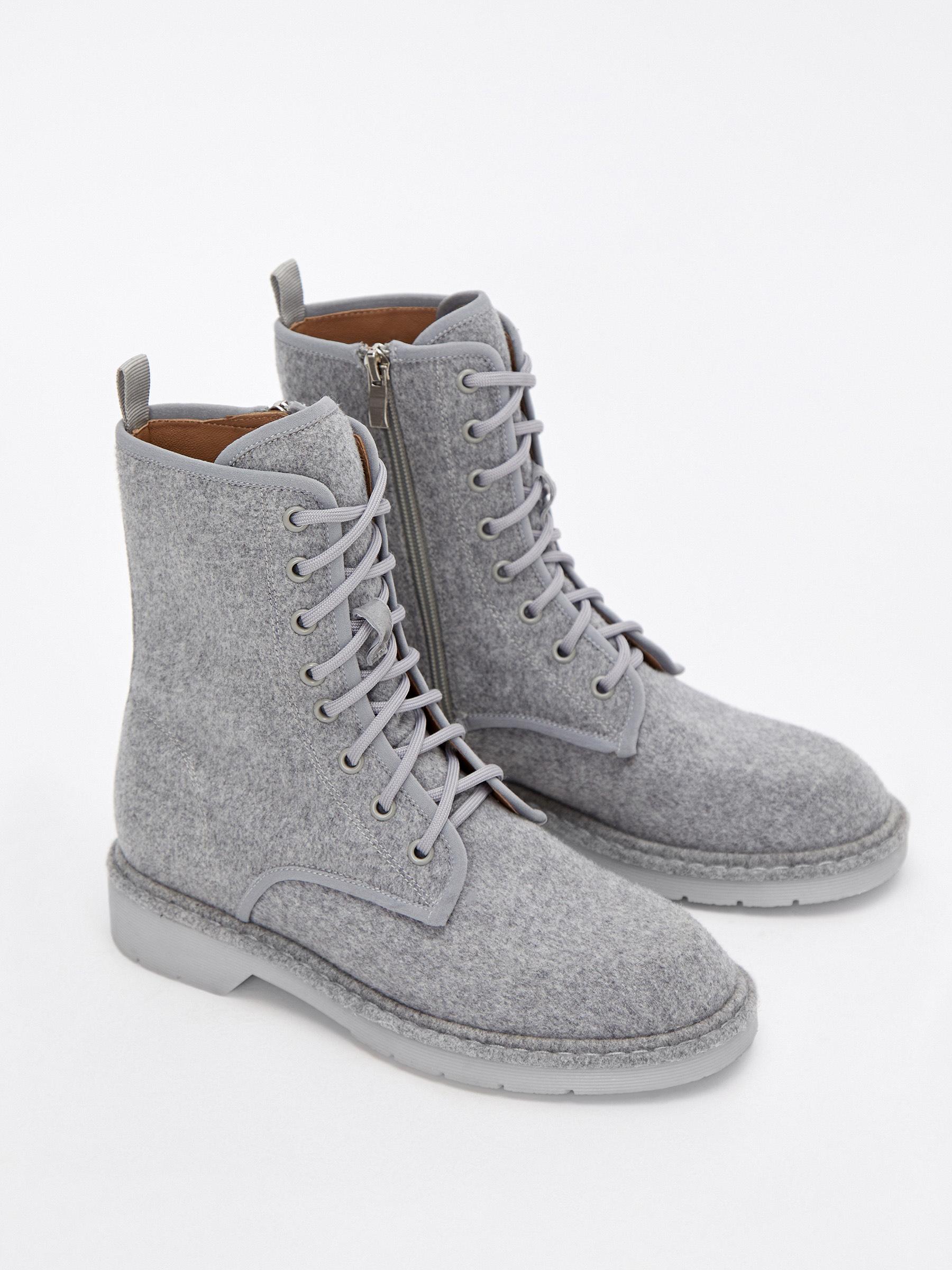 Ботинки из шерсти