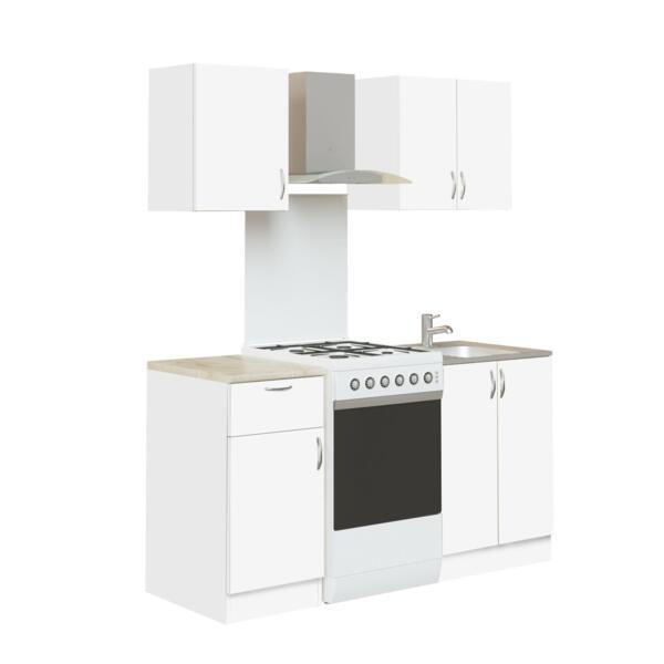 кухня лдсп 1,0м гавана (белый)